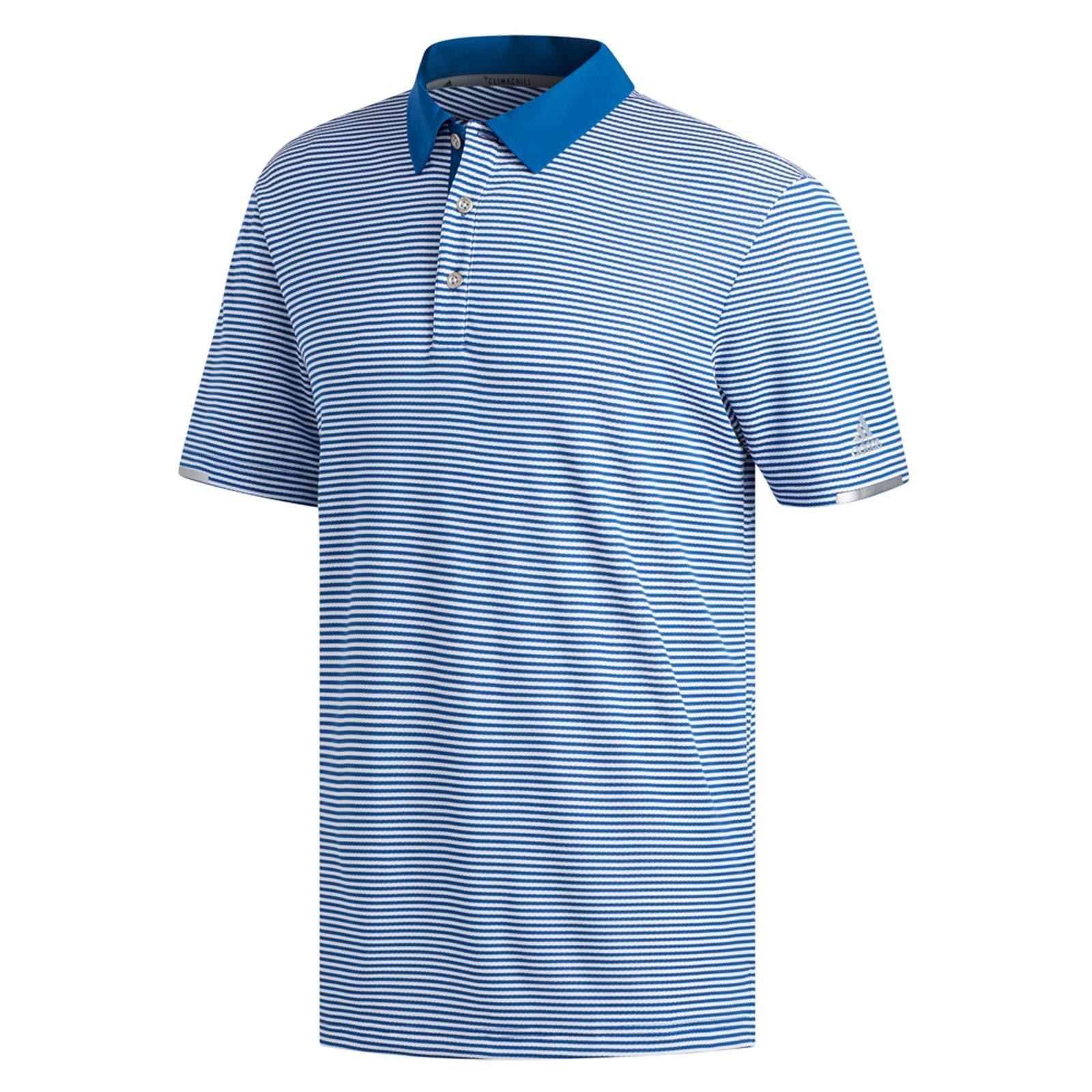 adidas Climachill Tonal Stripe Polo Shirts
