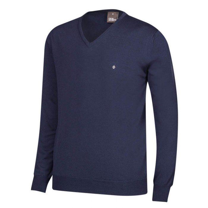 Oscar Jacobson Wyatt Pin V-Neck Sweaters
