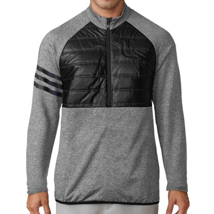 adidas Climaheat Quilted Half Zip Jackets