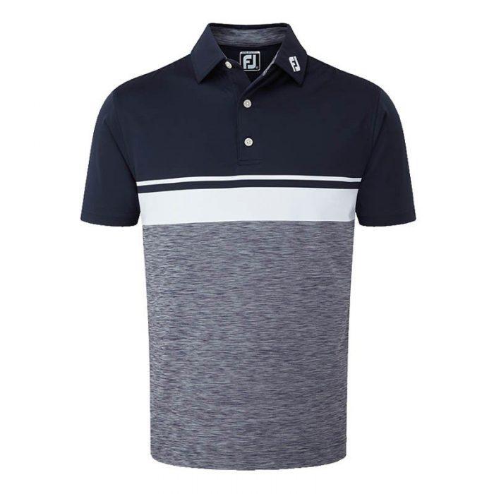 Footjoy Stretch Lisle Colour Block with Space Dye Polo Shirts