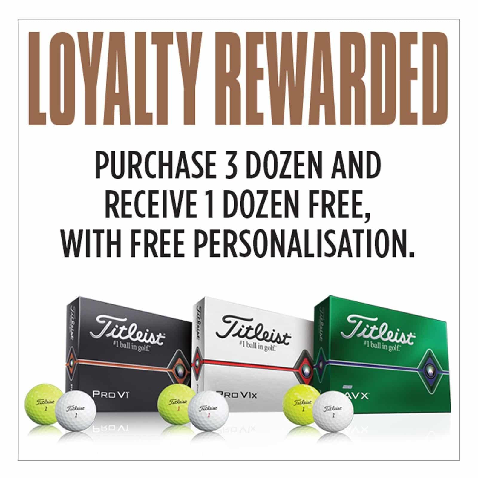 4 Dozen for the Price of Three on Titleist ProV1 Golf Balls & AVX - 2020