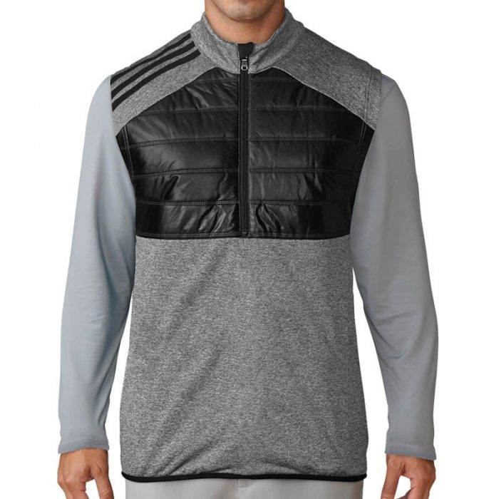 adidas Climaheat Quilted Half Zip Vests