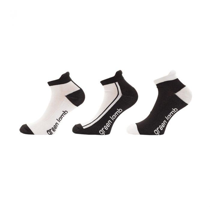 Green Lamb Colour Block Socks - 3 Pairs