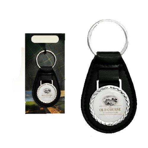 St Andrews Faux Leather Fob Keyring