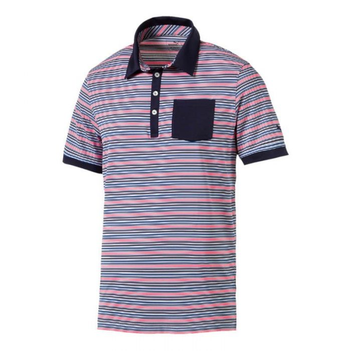Puma Tailored Pocket Stripe Polo Shirts