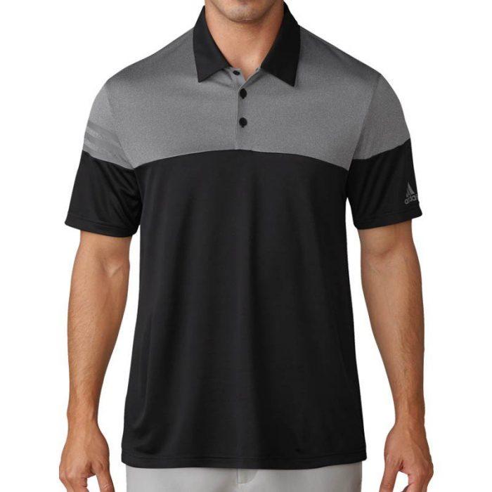 adidas Heather 3-Stripes Polo Shirts